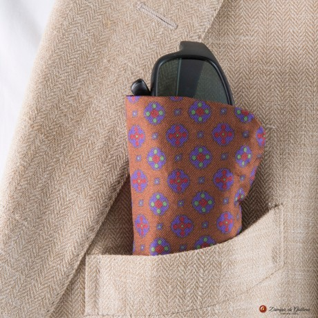 Brown with Ancient Madder Patterns Eyewear Pocket Square