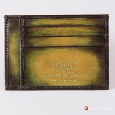Bonino X Emilie Patine Autumn leave Patina leather Card Holder
