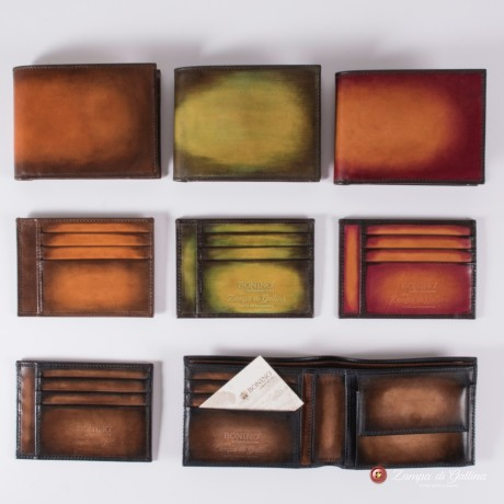 Bonino X Emilie Patine Burnt Pine Patina leather Card Holder