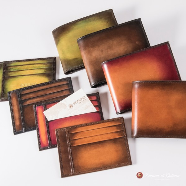 Bonino X Emilie Patine Blood Orange Patina leather Card Holder