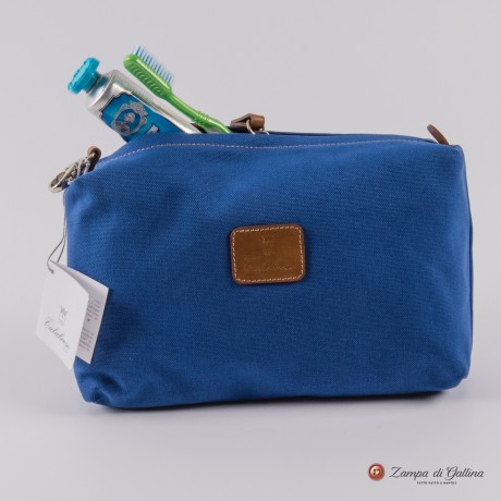 Gajola Blue Denim Calabrese 1924 Wash Bag