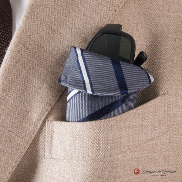 Grey with stripes Eyewear Pocket Square