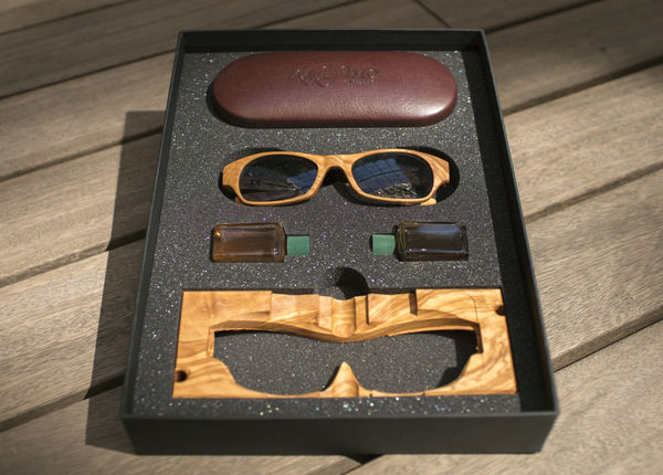 Wood Sunglasses Positano X Eyewear Pocket Square