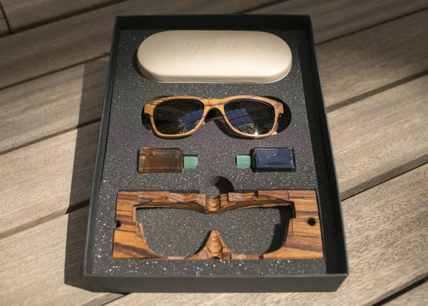 Wood Sunglasses Vulci X Eyewear Pocket Square