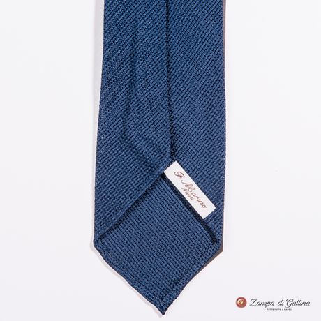 Unlined Blue Fine Garza Francesco Marino Napoli Tie