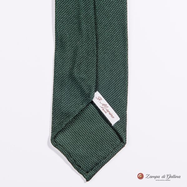 Unlined Green Fine Garza Francesco Marino Napoli Tie