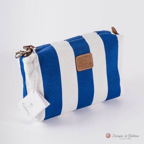 Blue striped Calabrese 1924 Wash Bag