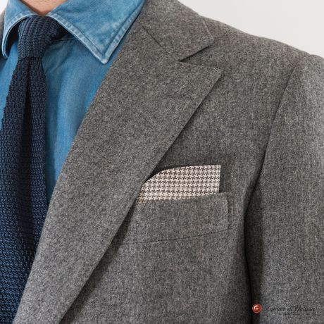 Grey Houndstooth double-sided Eyewear Pocket Square