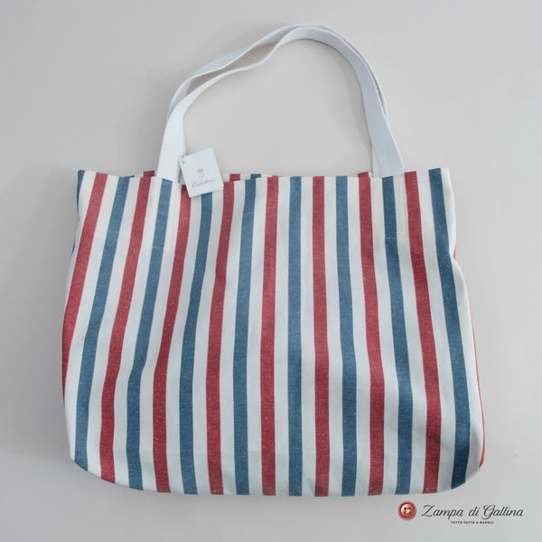 Red and Blue Stripes Calabrese 1924 Summer Bag