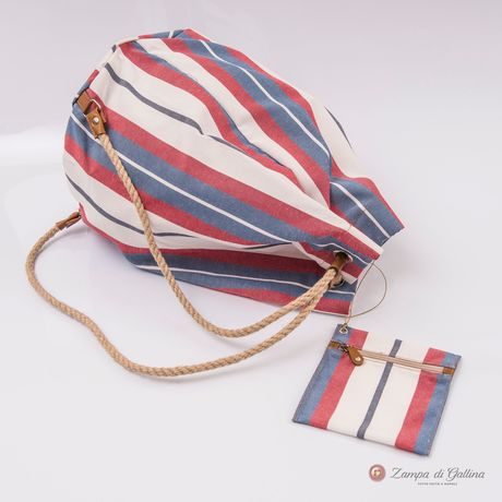 Vietri Calabrese 1924 Striped Seabag