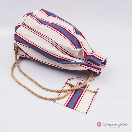White with blue stripes Vietri Calabrese 1924 Seabag