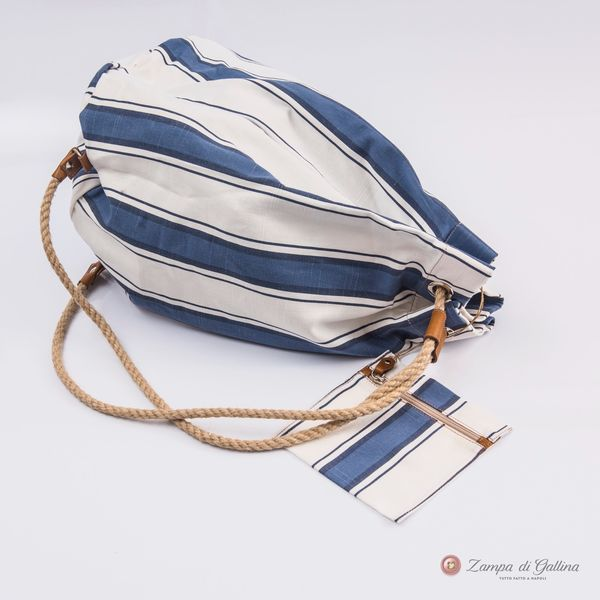 Vietri Calabrese 1924 Seabag with blue stripes