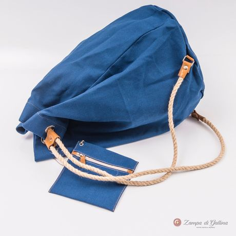 Denim blue Vietri Calabrese 1924 Seabag