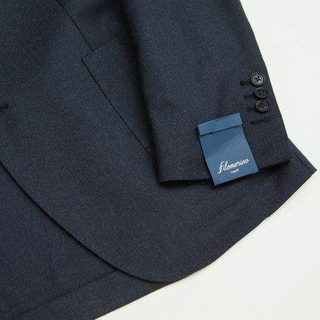 Blue Unlined Filomarino Napoli  Flannel Jacket