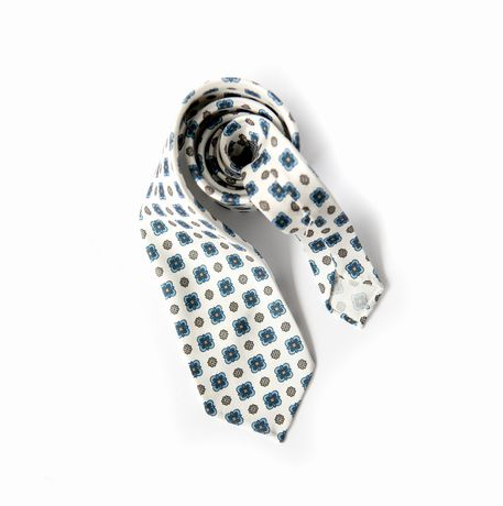 White with Ancient Madder patterns Calabrese 1924 necktie