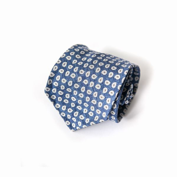 Blue with patterns Calabrese 1924 necktie