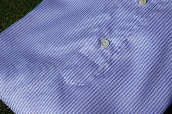 Camicia polo con righe in cottone stretch slim fit per le donne PRE-ORDINE