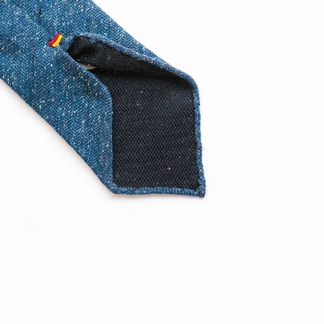 Donegal Blue Unlined Zampa di Gallina 100% Wool necktie