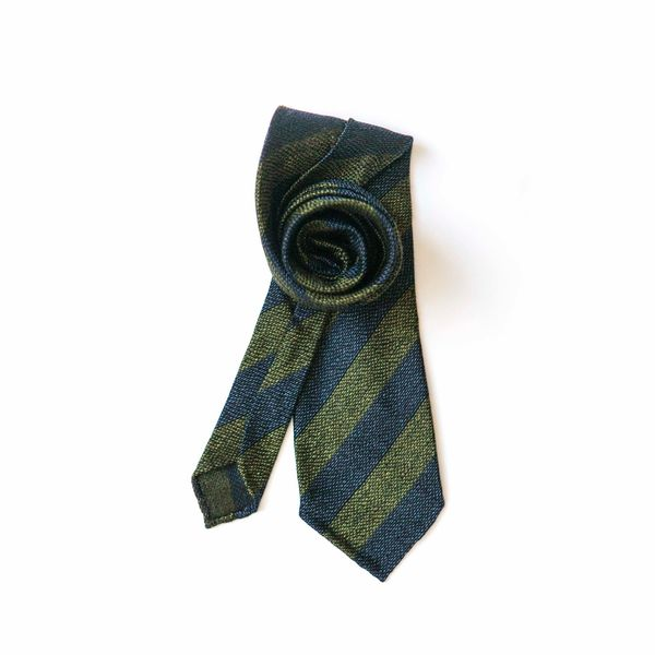 Green with stripes Calabrese 1924 necktie