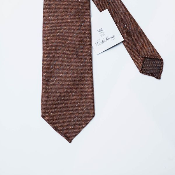 Unlined Wool and Silk Brown Calabrese 1924 necktie