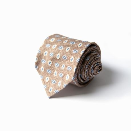 Brown with patterns Calabrese 1924 necktie