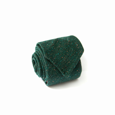 Donegal Green Unlined Zampa di Gallina 100% Wool necktie