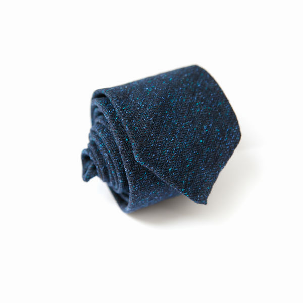 Donegal Royal Blue Unlined Zampa di Gallina 100% Wool necktie