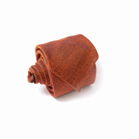 Unlined Twill Rust Zampa di Gallina 100% Wool necktie