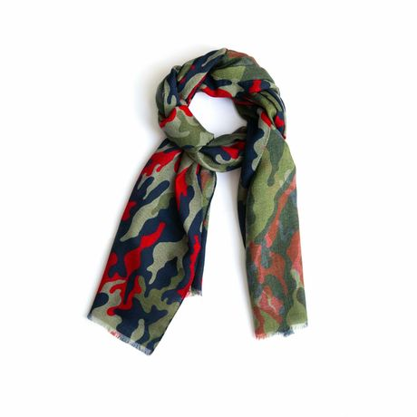 Camouflage patterns Calabrese 1924 Merino Wool Scarf