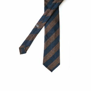 Brown with stripes Calabrese 1924 necktie
