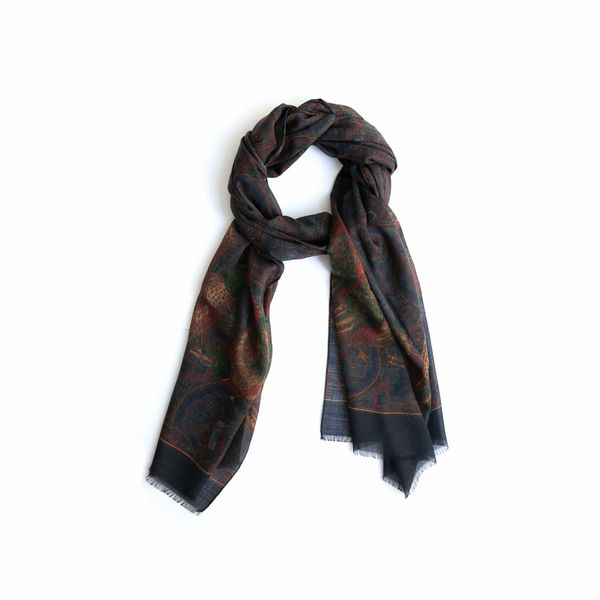Hunting patterns Calabrese 1924 Merino Wool Scarf