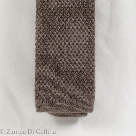 Brown Calabrese 1924 100% cashmere Knitted necktie