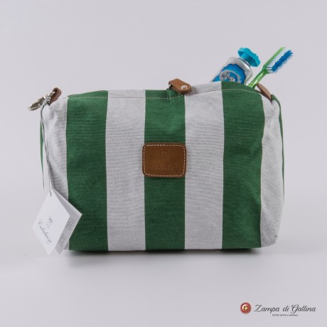 Green wiht stripes Calabrese 1924 Wash Bag