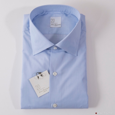 Blue End-on-End Slim Fit Maria Santangelo shirt