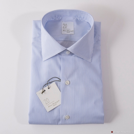 Camicia Maria Santangelo righe blu Slim Fit