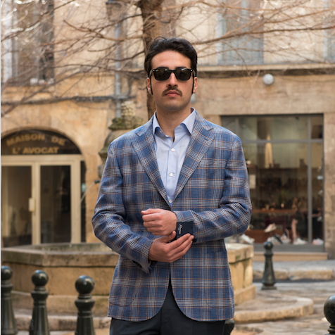 Blue Unlined Filomarino Napoli Jacket