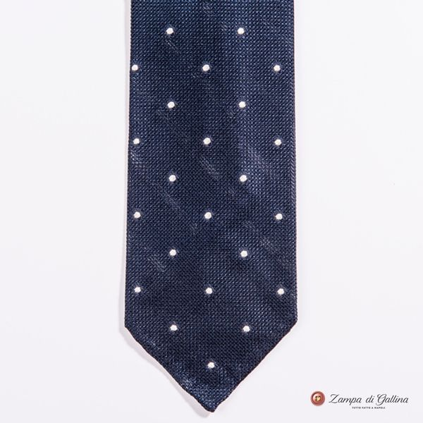 Blue With White Dots Fine Garza Francesco Marino Napoli Tie
