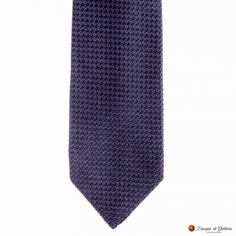 Blue and Burgundy Fine Garza Francesco Marino Napoli Tie