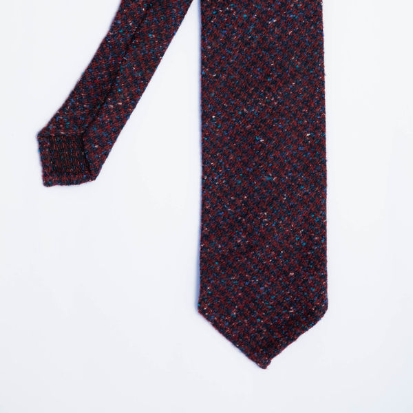 Unlined Grey wool and silk Calabrese 1924 necktie