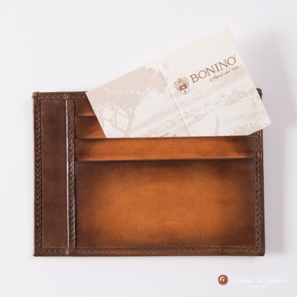 Bonino X Emilie Patine Light Cognac Patina leather Card Holder