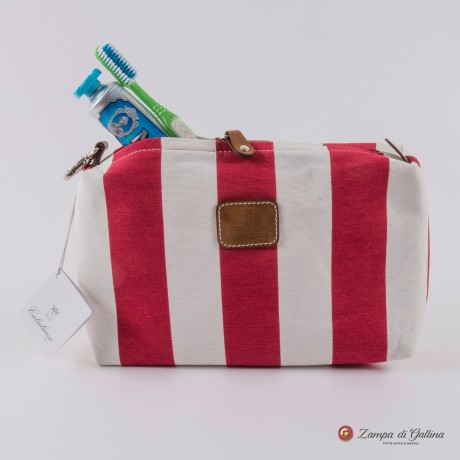 Rose wiht stripes Calabrese 1924 Wash Bag