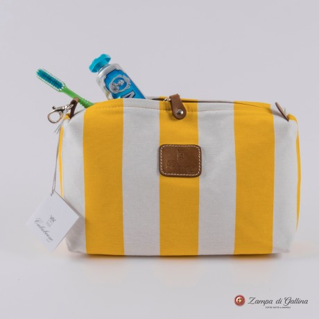 Yellow wiht stripes Calabrese 1924 Wash Bag
