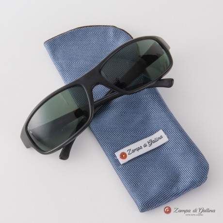 Blue and brown double-sided Eyewear Pocket Square