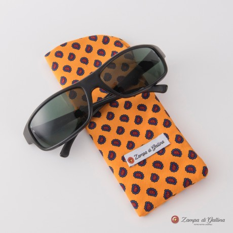Yellow with paisley patterns Eyewear Pocket Square