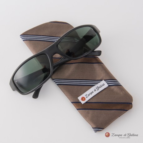 Brown with stripes Eyewear Pocket Square