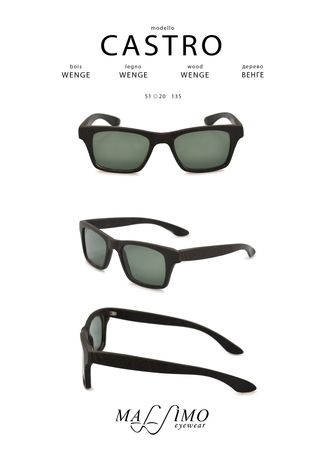 Wood Sunglasses Castro X Eyewear Pocket Square