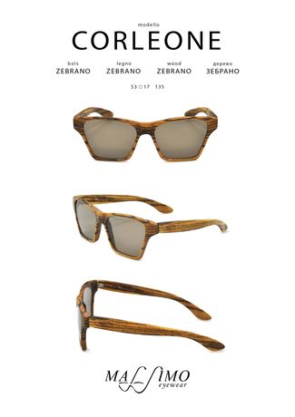 Wood Sunglasses Corleone X Eyewear Pocket Square
