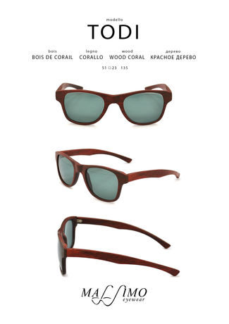 Wood Sunglasses Todi X Eyewear Pocket Square