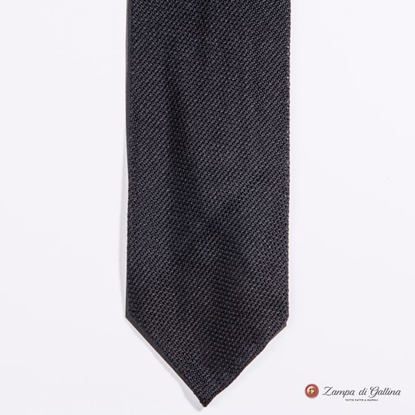 Unlined Black Fine Garza Francesco Marino Napoli Tie