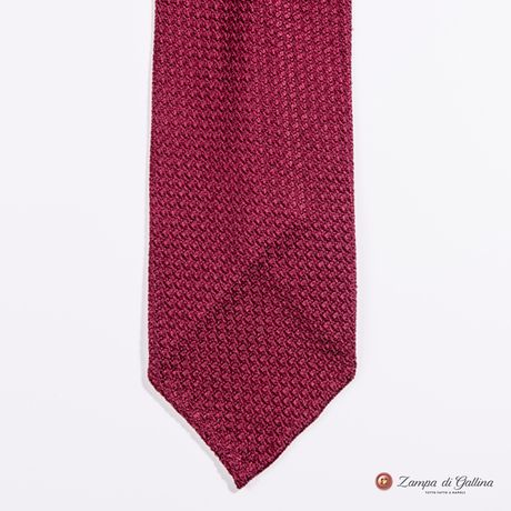 Unlined Burgundy Large Garza Francesco Marino Napoli Tie